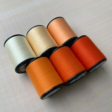 Orange Color shades 6 Spools Sewing Thread All Purpose Spun Polyester 600 Yards