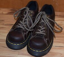 Dr. Martens Woman's 9861 Loafers Oxford Sneakers Leather Brown sz 5 US AW004