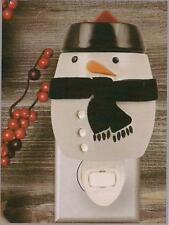 Wax Melt Bar Candle Warmer Snowman Plug In Ceramic Tuscany Candle NEW