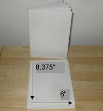 PLAIN WHITE CHUNKY BOARD BOOKS ALL BLANK TO SELF ILLUSTRATE 8X6 (6) PGS.