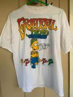 RARE Grateful Dead Bart Simpson Tee Bootleg Parking Lot Tee Vintage Clean sz M-L