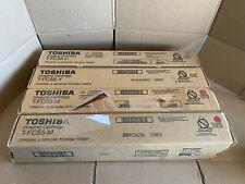 Toshiba Genuine T-FC55 Toner Set CMY OEM TFC55C TFC55M TFC55Y LOT OF 4