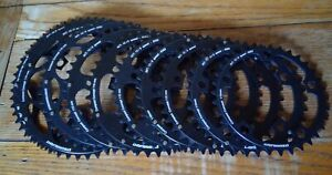 NEW STRONGLIGHT COMPACT BLACK  110BCD (5 BOLT) CHAINRINGS, 34-52t