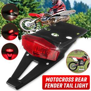 Motorcycle Dirt Bike Rear Fender LED Stop Brake Tail Light License Plate Lamp AU