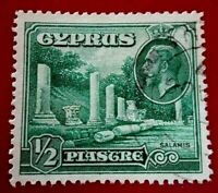 Cyprus:1934 Landscapes and Buildings ½PiaRare & Collectible stamp.
