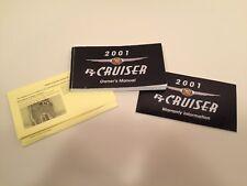 2001 Chrysler PT Cruiser owner's manual w/extras