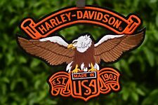 Harley Davidson  Patch  Sew or Iron Cycles  moto  Large