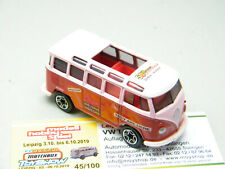 Matchbox Leipzig 2019 VW T1 Bus 4. Oktober 2019 Tagesmodell 50th SF rot-pink