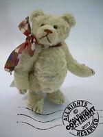 Artist Made Teddy Bear 1992 THE ROOSEVELT BEAR CO plush Aussie rayon C Peterson