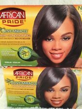 2 PK AFRICAN PRIDE Olive Miracle Deep Conditioning Anti-Breakage Relaxer No-Lye
