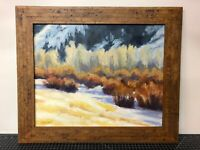"""Original Oil Painting Signed - New Mexico Artist Kat Sawyer - Framed 16x20"""""""