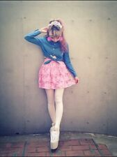 Authentic Japan Swankiss Peach Pink Lace Short Skirt Harajuku Street Style