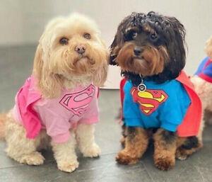 DC Comics Supergirl dog costume shirt XXL 45cm - New - Official merchandise