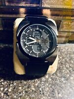 Zoo York ZY1037/S60-14 Analog/Digital Chronograph Black Strap Men Watch No Box
