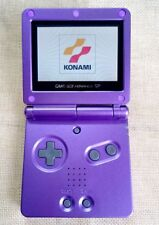 Super Mario Purple Game Boy Advance GBA SP Console AGS 101 Brighter Backlit LCD