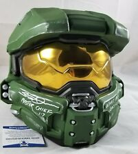 Steve DOWNES MASTER CHIEF Signed HELMET MASK BECKETT BAS COA 02 HALO AUTOGRAPHED