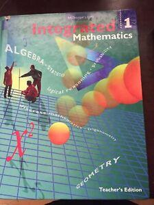 Integrated Mathematics 1: Teachers Edition