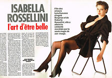 Coupure de presse clipping 084  1988  ISABELLA ROSSELLINI   (10 pages)
