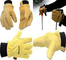 KINCO 901 Men's Pigskin Leather Ski Glove, HeatKeep Thermal Lining, Medium