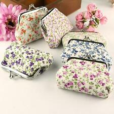 Fashion Womens Small Wallet Flower Cotton Hasp Purse Clutch Bag Handbag Mini Bag