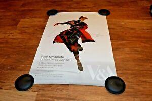 YOHJI YAMAMOTO Rare 2011 V&A V & A London museum exhibition poster
