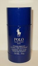 Ralph Lauren  POLO BLUE  Deodorant Stick Alcohol Free New Sealed