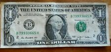 FANCY serial number TRIPLE DOUBLES 9's 3's & 6's US $1 ONE DOLLAR US currency