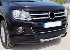 VW AMAROK CHROME LOWER U GRILLE BAR 1pce - PAINTED BUMPERS