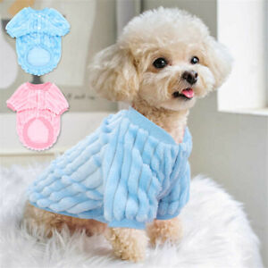 Pet Clothes Small Dog Fluffy Coat Puppy Cat Cute Sweater Winter Warm Jacket #