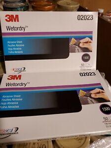 "3M 02023 Imp Wetordry 5 1/2"" x 9"" Abrasive Paper Sheets 1500 Grit 50 sheets"