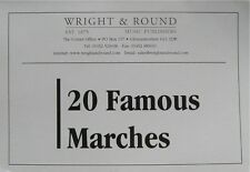 20 Famous Marches - Soprano Cornet Part Book - A5 Spiral Bound Brass Band Music