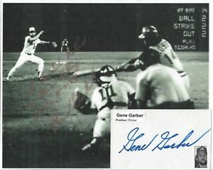 GENE GARBER...VINTAGE HAND SIGNED AUTOGRAPH/ IMAGE STOPPING ROSE RECORD AT 44...