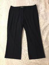 Women's Nike Golf Pants Modern Rise Tech Crop Black Golf Pants Size 10 P2