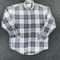 Eddie Bauer Button Down Flannel Shirt Mens Medium Multicolor Plaid Cotton