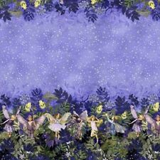Michael Miller Best Of DM5048 Nite Night Fairies Border  BTY Cotton Fabric