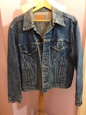 VINTAGE LEVIS JACKET STANDARD TRUCKER MADE IN THE USA FADED DENIM SIZE M WPL 423