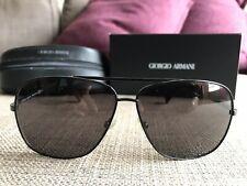 34666c76bd0 Giorgio Armani Black Aviator Sunglasses GA 771 s 62mm (Made In Italy)
