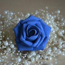 100PCS Foam Rose Heads Artificial Flowers Wedding Bride Bouquet Party Decor DIY