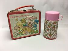 Vintage Strawberry Shortcake Lunch Box with Thermos ~ Very Aged Patina ~ 1981