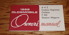 1969 Oldsmobile Cutlass 442 F-85 Owners Operators Manual 69