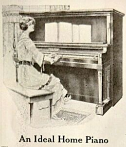 1918 Ivers & Pond Pianos Home Colonial Beauty Artistic Style Vintage Print Ad
