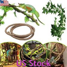 New listing Us Large Vines Bendable Jungle Rattan Climber Pet Reptile Lizard Terrarium Decor