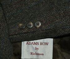 46R 44R ADAMS ROW mens brown blue burgundy TWEED sports coat jacket blazer