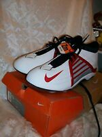 NEW NIKE AIR ZOOM IMPACT MENS SIZE 13 FOOTBALL CLEATS SHOES WHITE RED BLACK