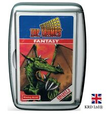 TOP TRUMPS FANTASY RETRO CARD GAME Family Travel Holiday Play Christmas Gift UK