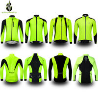 Mens Winter Cycling Jacket Waterproof Thermal Fleece Coat Warm Windproof Jersey