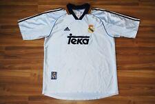 REAL MADRID 1998-2000 HOME ADIDAS TEKA ORIGINAL FOOTBALL SHIRT ADULT LARGE RARE