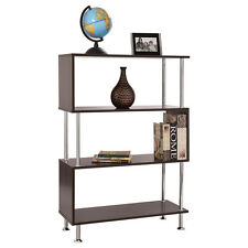 "32""x12""x45"" 3 Shelf Bookcase Wooden Bookshelf Storage Display Unit Furniture New"