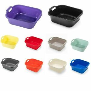Large Washing Up Bowl 10L Plastic Kitchen Basin Sink Bowl with Handles