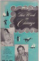 NOV 25 1944 THIS WEEK CHICAGO entertainment magazine BURLESQUE - MUSIC